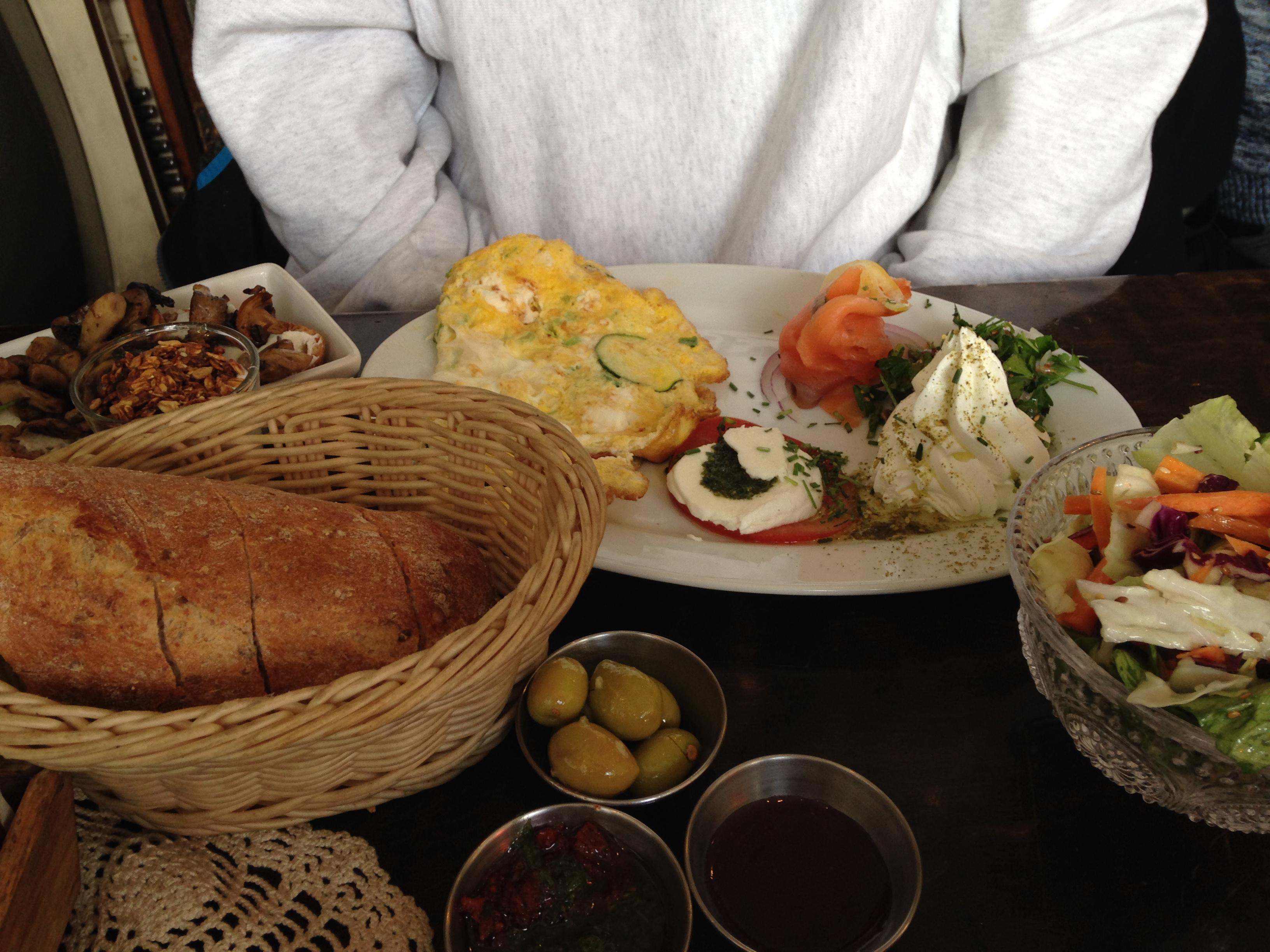 Cafe Yehoshua Jerusalem Menu